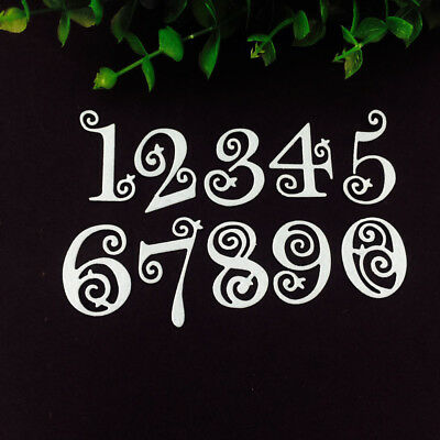 Circle Lace Numbers Metal Cutting Dies Stencil Embossing Card Craft Scrapbooking
