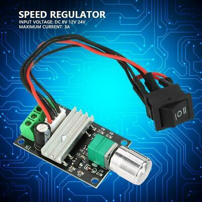 3A DC 6/12/24V PWM Motor Reversible Speed  Controller Regulator with Switch