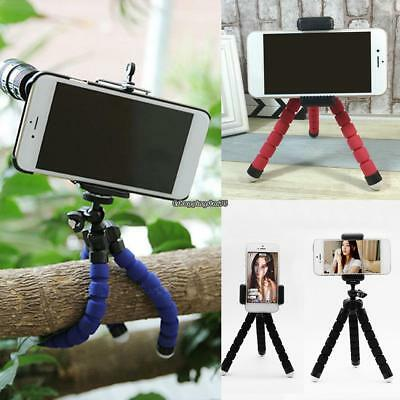 Universal Adjustable Tripod Mount Stand Holder Camera Cell Phone Flexible Selfie