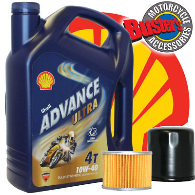 Shell Advance Ultra Fully Synthetic 4 L and Oil Filter For Suzuki GS450 GS 450