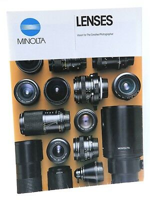 Minolta MD Lenses Fold Out Promotional Material