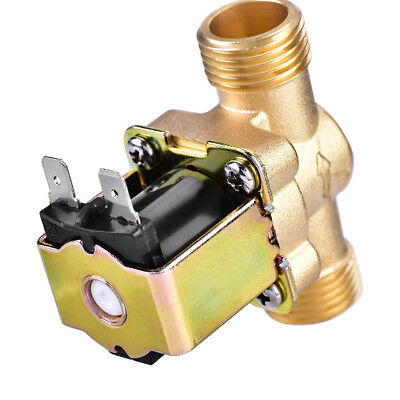 """1/2"""" AC 220V Normally Closed Brass Electric Solenoid Magnetic Valve 1pc"""