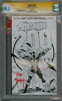 Spawn #200 Sketch Variant Cgc 9.8 Signature Series Signed Todd Mcfarlane Movie