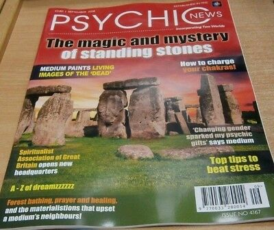 Psychic News magazine Sep 2018 Standing Stones + Charge your Chakras + Dreams