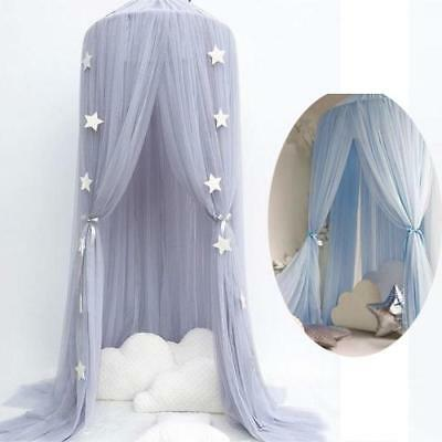Kids Baby Bed Canopy Bedcover Mosquito Netting Princess Dome Tent Bedding Net AU