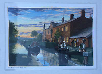 1 Fradley Junction Trent & Mersey Canal Table Placemats Mats Alan Firth boat