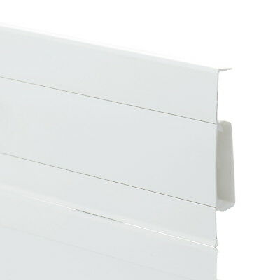 2m WHITE SKIRTING BOARD & ACCESSORIES (w. FREE screws) 75mm x 19mm PVC floor