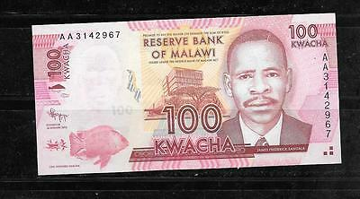 MALAWI #59a 2012 100 KWACHA UNUSED BANKNOTE PAPER MONEY CURRENCY BILL NOTE