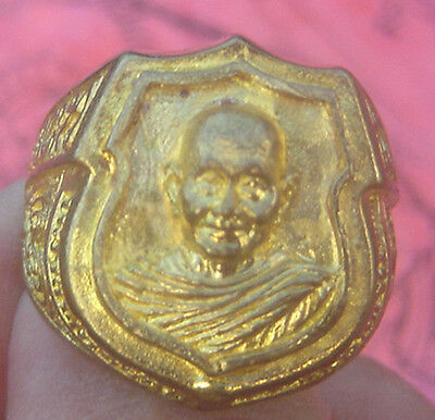 "Bronze Ring topped Famous Monk""Lung Por Jarun""Wat Ampawun Temple"