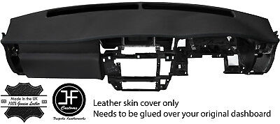 Black Stitch Dash Dashboard Real Leather Cover Fits Nissan Patrol Y61