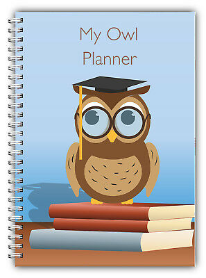 2019 Standard 3 Monthly Planner, Diary, Journal/ A5 Owl Cover 50 Inner Pages