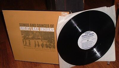 1956 LP Record Songs and Dances of the Great Lakes Indians Smithsonian Folkways
