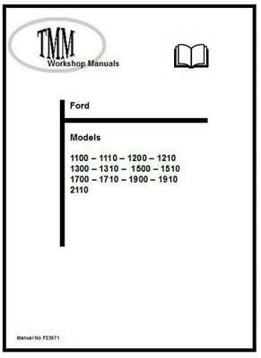 Ford TMM 1100 to 2110 Workshop Manual Printed and Digital