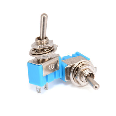 10pcs 2-Pin SPST ON-OFF 2 Position 250VAC Mini Toggle Switches MTS-101 Blue