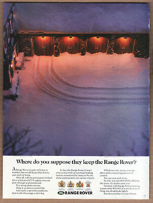 "1995 Range Rover Ad ""Where do you suppose..."" Print Ad"