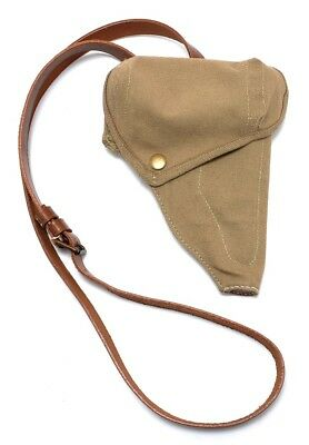 Japanese Nambu Type 94 Canvas Holster with Shoulder Strap