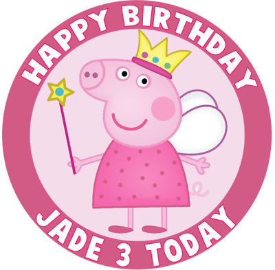 """PEPPA PIG 7.5"""" ROUND Cake Topper Rice Paper (2ND,1ST & OVERNIGHT POST)"""