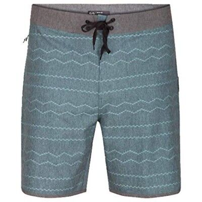 "Hurley Men's Phantom Pismo 18"" Grey Surf Swim Trunks $65 Boardshorts MBS0007680"