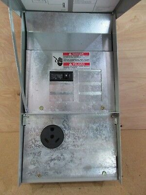 125 Amp RV Power Outlet Panel Box with 30 Amp Receptacle & Breaker