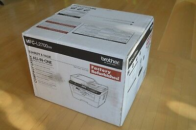 Factory Sealed Brother MFC-L2700DW Wireless B&W All-in-One Laser Printer w/Toner