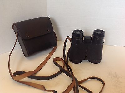 Vintage Airguide Compact Binoculars 4 X 35 With Case Made in USA