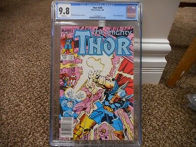 Thor 339 cgc 9.8 newsstand upc variant cover 1984 1st appearance of Stormbreaker
