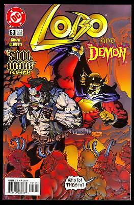 Lobo #63 2Nd To Last Issue Low Print Run Demon In Hell Cover Dc Nm