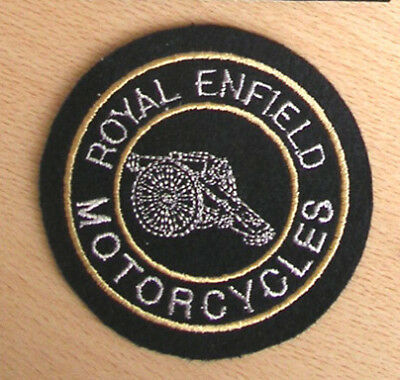 Classic Embroidered Royal Enfield  Motorcycle Patch-Bullet