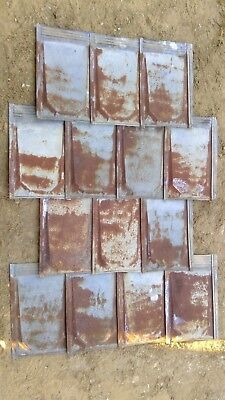 Rustic Vintage 26 Gauge Metal Roof Shakes (lot of 150 pieces)