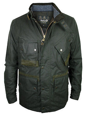 Barbour International Wachs-Jacke Rake Regular Fit Wax Jacket Dark Green