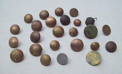 Lot of 25 Bronze Buttons Dating From The 1600's/1700's Detecting Finds  Lot 1