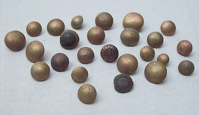 Lot of 25 Bronze Buttons Dating From The 1600's/1700's Detecting Finds  Lot 2