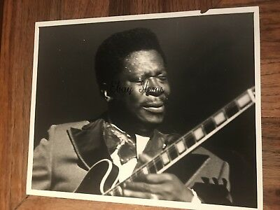 B.B King American Blues Singer Electric Guitarist Songwriter Original Photograph