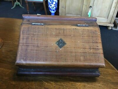 Antique 19th Century Wooden Victorian Country Pitch Pine Salt Box