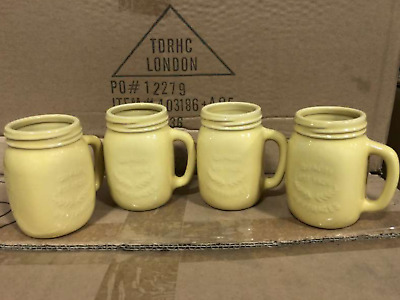 6 Yellow Oasis Bia Milk Jugs 4oz 100ml Cafe Tearoom Restaurant B+Bs Hotels