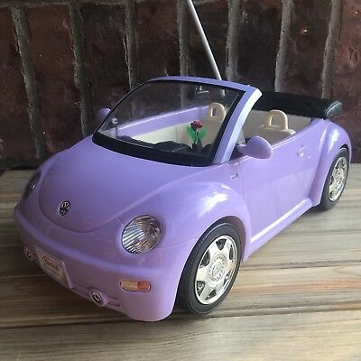 BARBIE REMOTE CONTROL Volkswagen Beetle Purple Convertible Car Vehicle PARTS