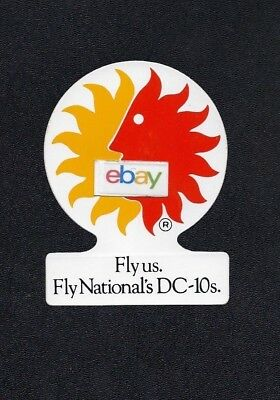 National Airlines I Fly Douglas Dc-10 Trijet Sunking Livery Baggage Label
