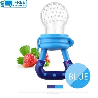 Baby Teether Fruit Feeder Infant Fresh Food Pacifier Silicone Teething Nibbler