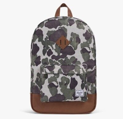 eaef3a01e67 HERSCHEL SUPPLY CO. Cotton Casuals Daypack Backpack Camo New ...