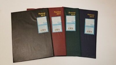 """2019 Monthly Desk Planner Choose from 4 colors 7 1/2"""" x 10"""" when closed"""