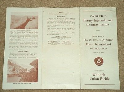 June 14-18, 1926 Rotary International Denver Brochure-Wabash Union Pacific Train