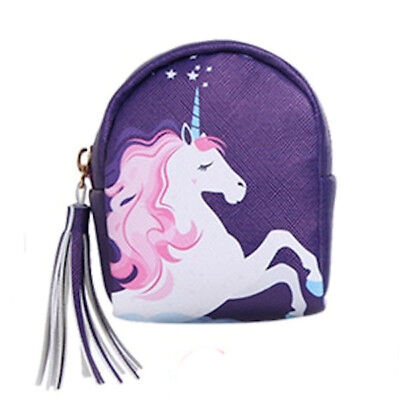 Horse & Western Gifts Ladies Girls Unicorn Print Coin Purse With Key Chain