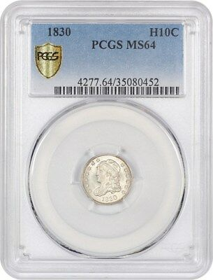 1830 H10c PCGS MS64 - Popular Type Coin - Early Half Dimes - Popular Type Coin