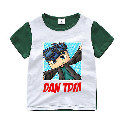 Dan TDM Minecraft Kid's Unisex T-Shirt Size 3-12 Boys Girls AU Shop