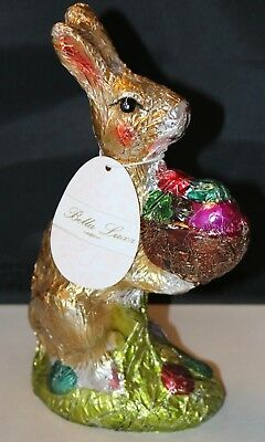 Bella Luxe Faux Chocolate EASTER BUNNY RABBIT Foil Wrapped NEW Spring 8 Inch