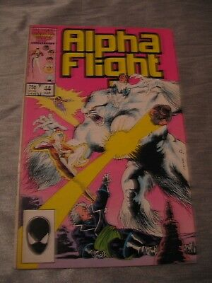 Alpha Flight #44 Snowbird Sasquatch Pestilence Marvel 1987 VG P&P Discounts