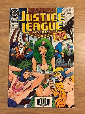 Justice League America #34 1989 VF to NM  DC