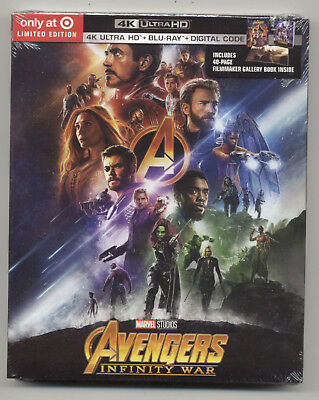 Avengers Infinity War 4K/UHD Target Exclusive (4K Ultra HD + Blu-ray + Digital)