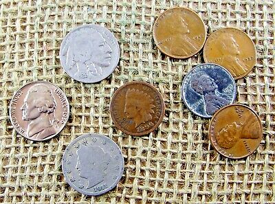 Vintage Coin Starter Collection... 8 Old U.S Coins.....*3495