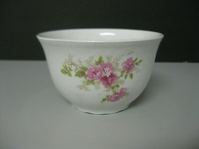 Imperial Faience Homer Laughlin The Angelus Cranberry Bowl Pink Roses 1900s